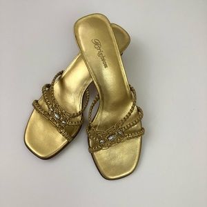 Brighton Gold Sandals 7N